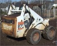 1997 Bobcat Model 873 F-Series wheeled skid