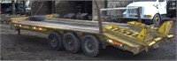 1987 Eager Beaver triple axle equip trlr,