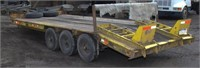 1985 Eager Beaver triple axle equip trlr,