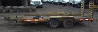 1998 Custom double axle equip trlr,