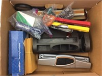 Assorted Office Supplies And A Various