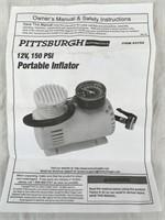 Pittsburgh 12V 150 PSI Portable Inflator