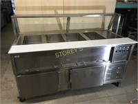 Lowe Star Portable 4 Well Steam Table w/ Ref.