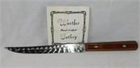 E Warther & Son Hand Crafted Knife Dover Ohio 7""