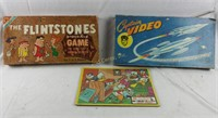 Board Games Puzzle Lot Disney Flintstones Cap Vid