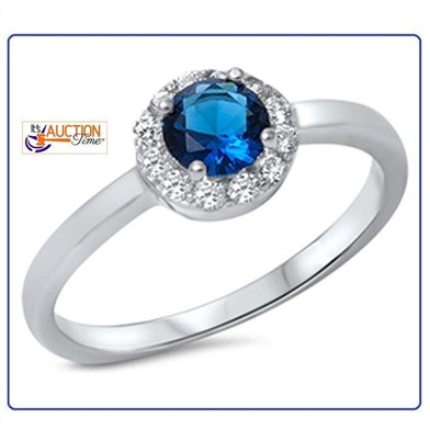 Women S Blue Wedding Ring 925 Sterling Silver Other Items For