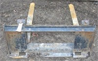 quick tach pallet forks with low profile back and