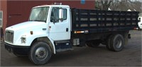 2000 Freightliner FL70 with 18' rack body dump,