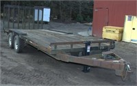 1995 International double axle equip trlr,