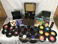 Lot of 45's and 78's Vinyl Records