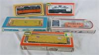 5 Ho Scale Train Cars In Box Life Like Penn & More