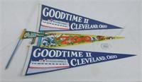 Lot Of Souvenir Cleveland & Ohio Pennants