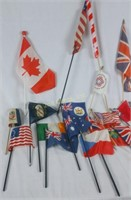 Lot Of Handheld Flags Usa And Other Countries