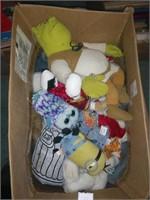 Box Full Of Plush Toys Oscar Minion & More