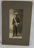 Antique Photograph Of Knight Of Columbus W/ Sword
