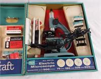 Porter Microcraft Microscope Lab Set In Metal Case