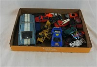 Box Lot Of Diecast Cars Hot Wheels & More