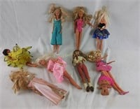 Lot Of Loose Barbie Dolls