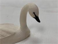 "Fred Mayac trumpeter swan 4"" long         (L 150)"
