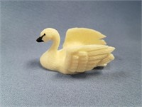 "Fred Mayac carved ivory swan 2.25""      (L 150)"