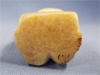 "Ivory Billiken fossilized ivory, 2.5"" long p672"