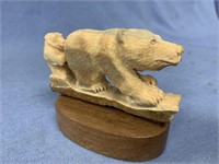 """Sow and cub grizzly bear, 4"""" long in fossilized iv"""