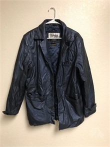 WILSONS PELLE STUDIO BLUE LEATHER JACKET SIZE L Other Items