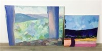 2 Landscape Oils on Canvas
