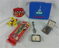 Mickey Mouse Lot 14 K Filled Necklace ,watch &more