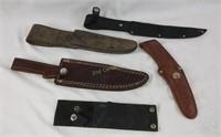 Lot Of Various Knife Sheaths