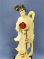 Stunning ivory carving of a Japanese women holding