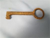 """Antique cast iron door key, approx. 6 1/2"""""""