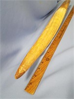 """fossilized ivory tusk, approx. 27 1/2"""" long, appro"""