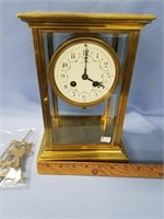 Tiffany & CO. brass mantle clock, comes with mercu