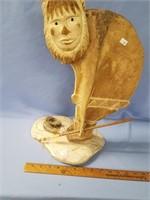 Phenomenal fossilized walrus shoulder blade, carve