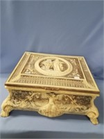 """Incolay stone carved music box, """"Le Magnifique"""", w"""