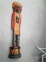 """Reproduction tobacco store Indian, approx. 60 1/2"""""""