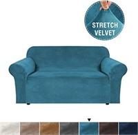 Real Velvet Sofa Slipcover High Stretch Rich