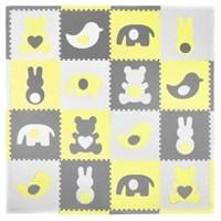Tadpoles Elephants with Hearts 16 Piece Floor Mat
