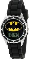 Batman Kids' BAT4045 Watch - Black Rubber Strap w/