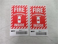 (2) Fire Extinguisher Inside Label By SmartSign