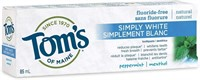 Tom's Simply Whiet Toothpaste Fluoride-Free -