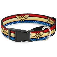 Dog Collar Martingale Wonder Woman Stripe Stars