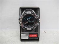 Timex Men's Combo Black Resin Strap Wrist Watch