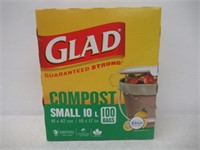 Glad 100% Compostable Bags - Small 10 Litres -