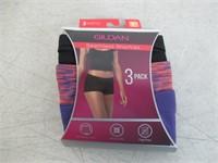 3-Pack Gildan Women's 6/Medium Seamless Shorties,