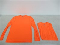 Hanes Men's Small Long Sleeve Cool Dri T-Shirt UPF