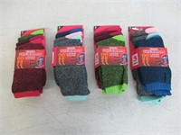 (4) 3-Pk Women's 9-11 Thermal Heated Crew Socks,