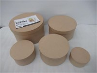 "Darice Paper Mache Boxes, Set of 5 "" Neutral"