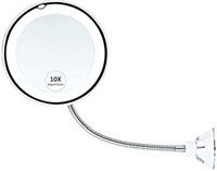 10x Magnifying Makeup Mirror, Adjustable LED